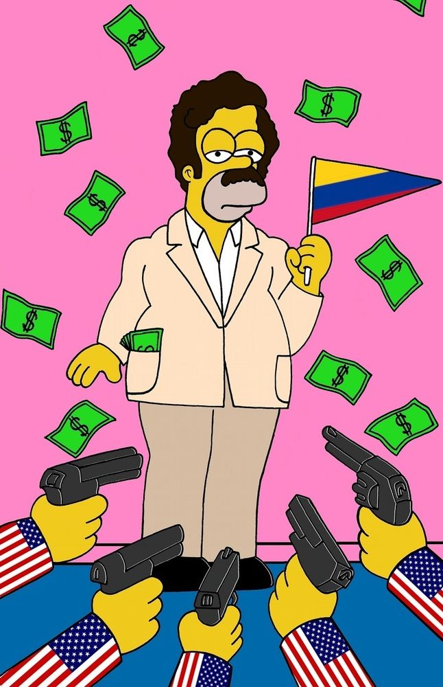 Convierten a Homero Simpson en Pablo Escobar y en 'El Chapo' (FOTOS)