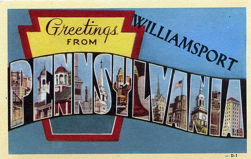 Greetings from Williamsport, Pennsylvania - Large Letter Postcard