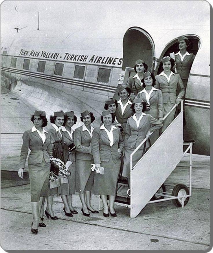 Türk Hava Yolları Hostesleri - 1960 laR