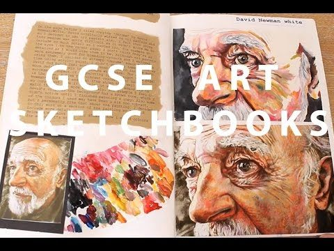 A* GCSE Art Sketchbooks - YouTube
