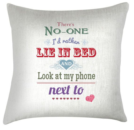 Valentine phone typography funny gift quote cushion /pillow cover on Etsy, $38.68