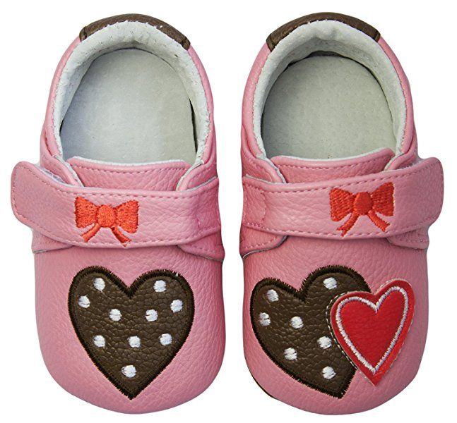 Rose & Chocolat RCM Polka Lolly Pink, Baby Mädchen Lauflernschuhe, Pink (Pink), 20 EU