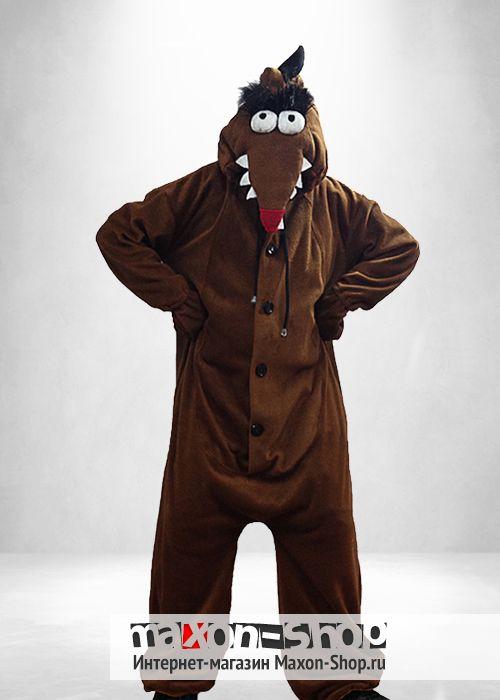 Пижама кигуруми  quot Бобёр quot  для мальчиков и девочек от 3 до 12  лет quot Кто это такой! quot  - это то f600074a37bdf
