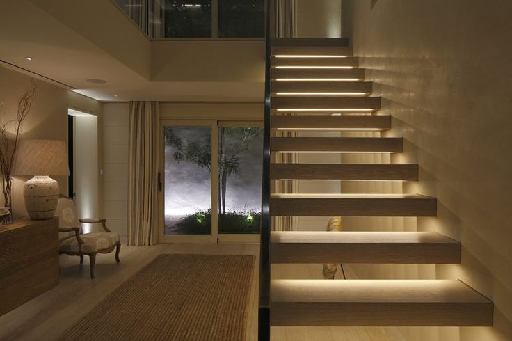 Contemporary staircase lighting ideas and stair light