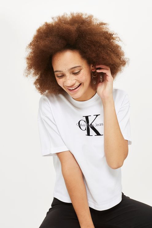 Calvin Klein Crop Logo T-Shirt