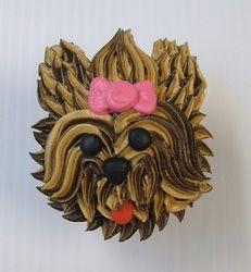 Puppy dog cupcake -- Yorkie                                                                                                                                                                                 More