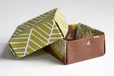 Fabric origami box tutorial.