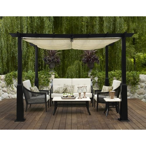 Outdoor Patio Smith & Hawken Windsor Metal 4 pc Conversation Set Outd