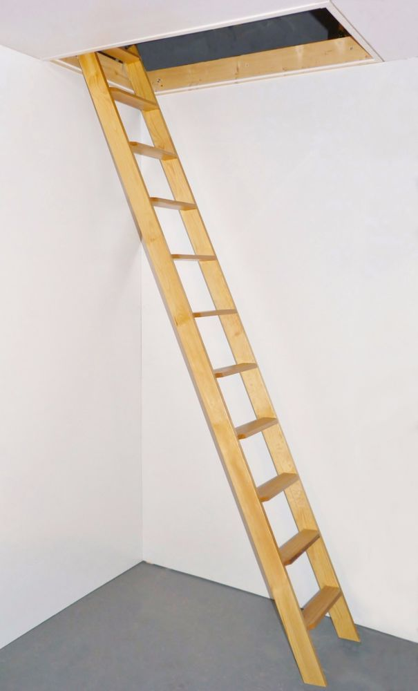 This Straight Flight Ladder Is Ideal For A Variety Of Applications Requiring A Good Quality Timber Ladder As Loft Ladder Space Saving Staircase Staircase Kits