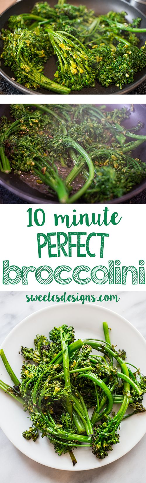 Want a delicious, easy, but impressive veggie for a side dish? This broccolini is always our familys favorite and takes just 10 minutes!