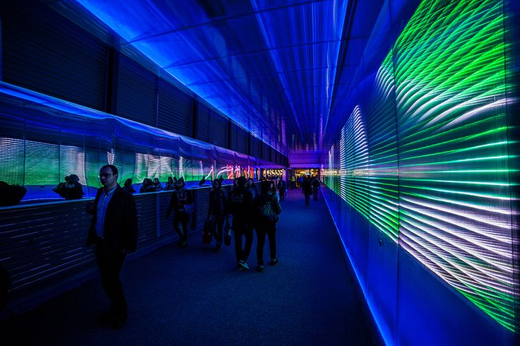 the pixels crossing: sensory tunnel by miguel chevalier