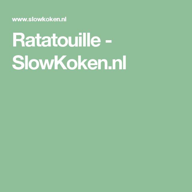Ratatouille - SlowKoken.nl