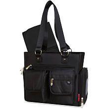 Fisher Price Front Pocket Tote Diaper Bag  Black