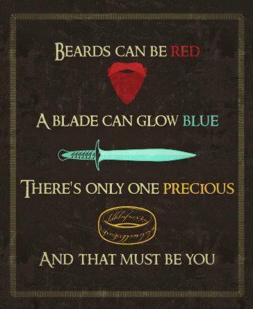 The Hobbit/LOTR Valentine. This Is Awesome.