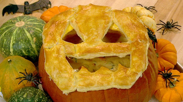 the chew | Recipe  | Carla Hall's Pumpkin Pot Pie