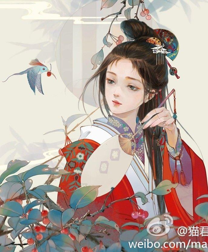 Chinese painting by Mao Jun 猫君. #China