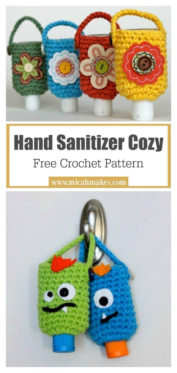 Hand Sanitizer Cozy Free Crochet Pattern Crochet Free Crochet