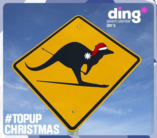 Its Day 5 of our ding* #Christmas Advent Calendar!  Did you know that in Australia, Santa Claus sleigh is often pulled by kangaroos? #topupchristmas  https://www.ding.com