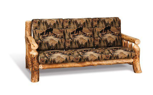 Amish Rustic Log Cabin Sofa Cabin Sofa Rustic Sofa Log Cabin Furniture