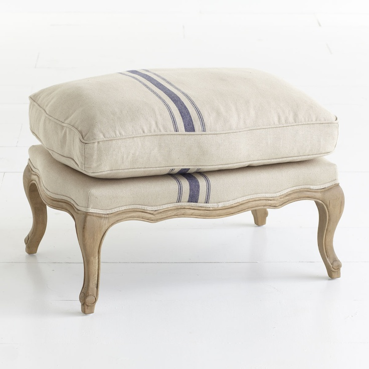 overstuffed ottoman from wisteria