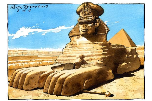 New blog post: As the Egyptian political situation took on a new twist, the newspapers' cartoonists seemed to be thinking along the exact same lines.