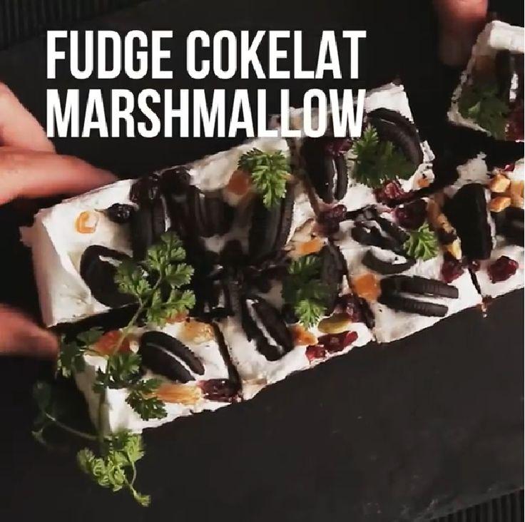 Resep dan Cara membuat Fudge Cokelat Marshmallow