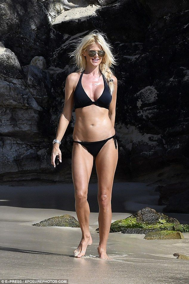 Wow!Victoria Silvstedt's body is naturally her very best asset - as illustrated when she showcased her phenomenal curves while soaking up the St Barts sunshine in tiny swimwear on Saturday