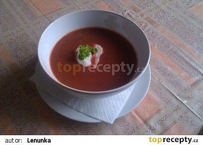 Polévka z předvařené červené řepy recept - TopRecepty.cz