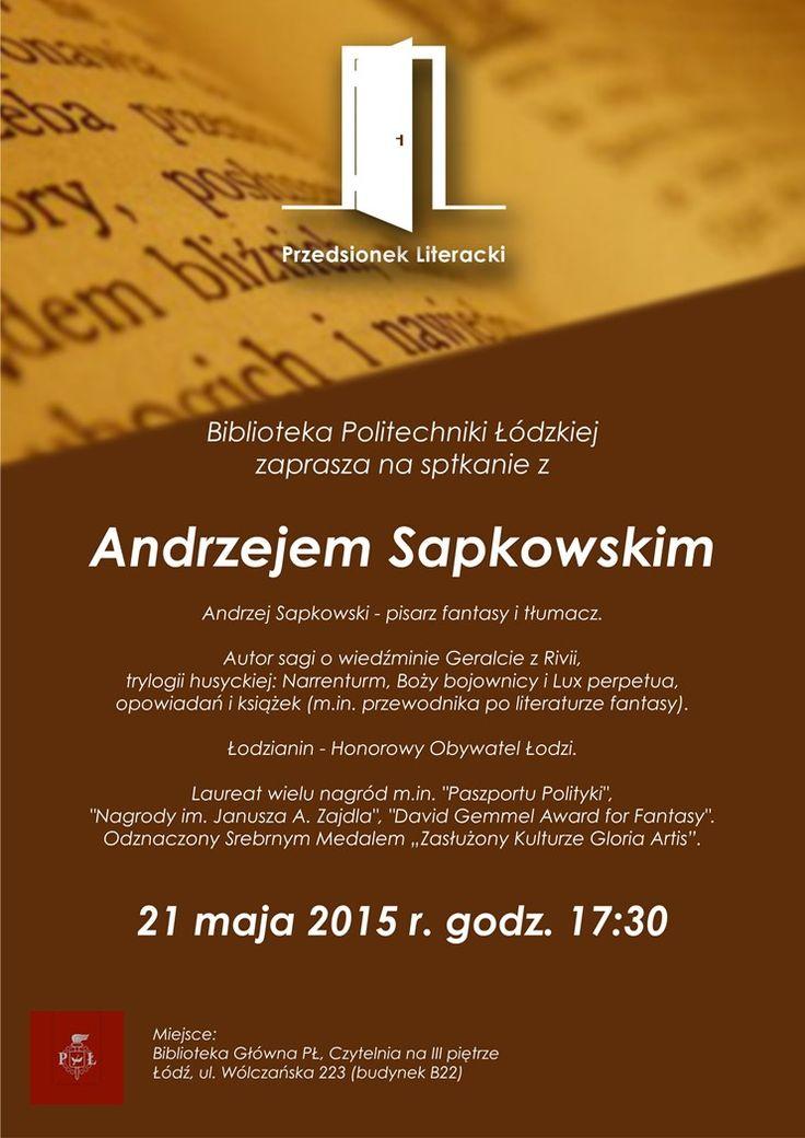 Spotkanie z Andrzejem Sapkowskim (21 maja 2015 r.)