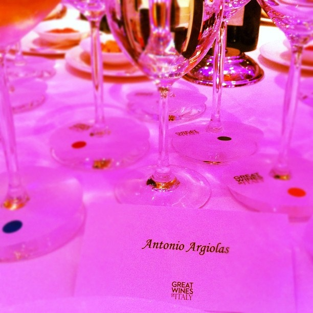 Great Wines of Italy in Hong Kong: Gala dinner with Argiolas