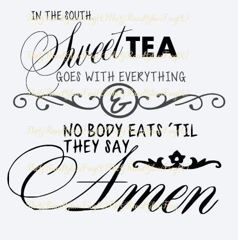 Sweet Tea Amen Svg Southern Saying Svg By