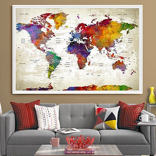 39 best amazon world map images on pinterest mapas del mundo push pin travel world map extra large wall art world ma https gumiabroncs Gallery