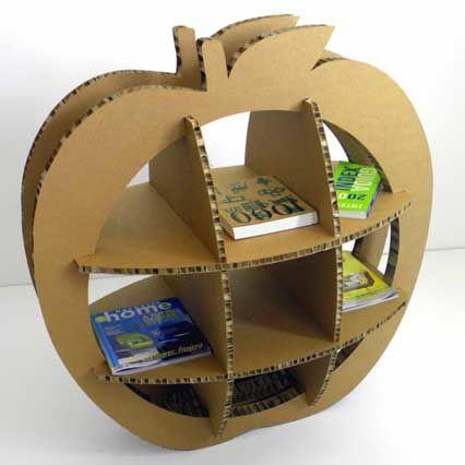 Arredo in cartone alveolare- manzana libreria de cartón