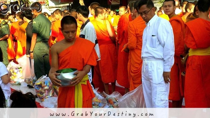 An Incredible Experience We'll Never Forget! Chiang Mai, Thailand… Chiang Mai Early Morning Alms Offering To The Buddhist Monks, Thailand…. #Travel #GrabYourDestiny #Buddhist #Monks #JasonAndMichelleRanaldi #AlmsOffering #ChiangMai #Thailand   www.GrabYourDestiny.com