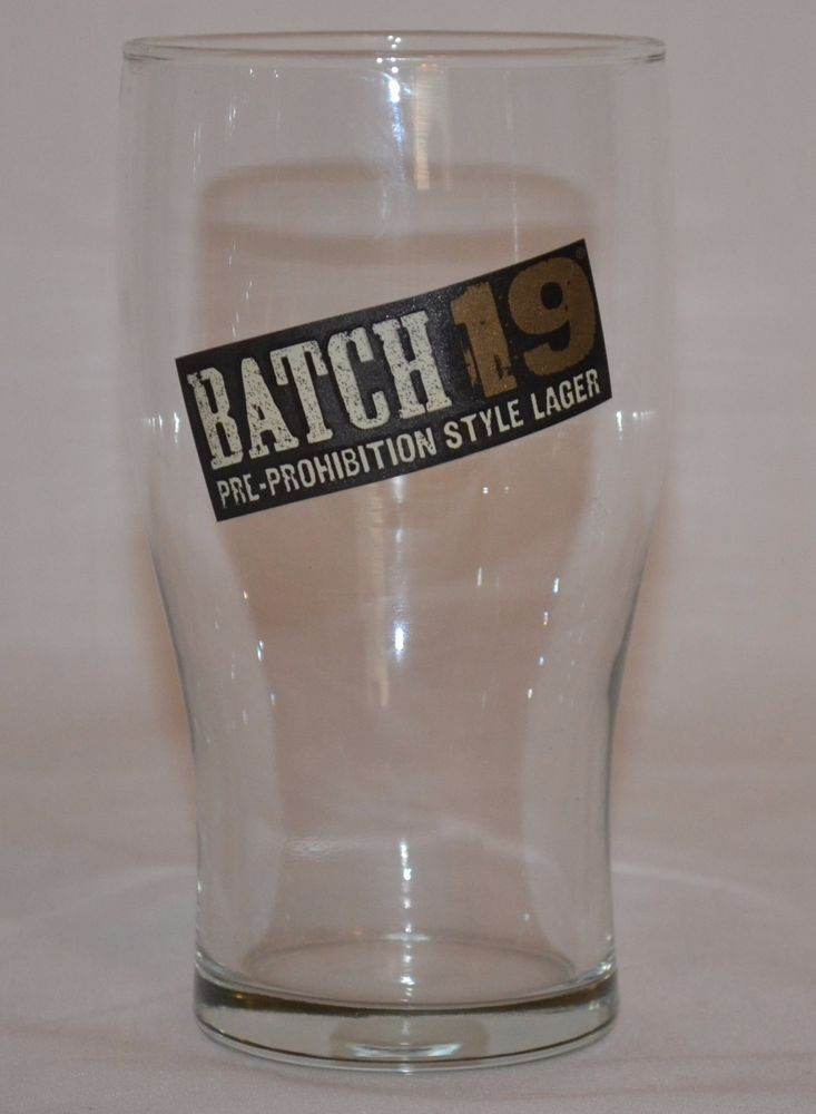 Coors Brewing Company Batch 19 Beer Glass Pre-Prohibition Style Lager #Batch19Lager