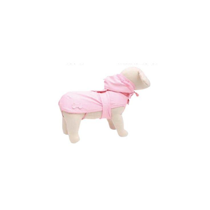 Chubasquero para perro con capucha OSLO color rosa, con capucha extraible, interior de felpa y exterior impermeable, tu perro irá abrigado y protegido de la lluvia. Medidas disponibles en la web. http://bit.ly/1MgkIRd