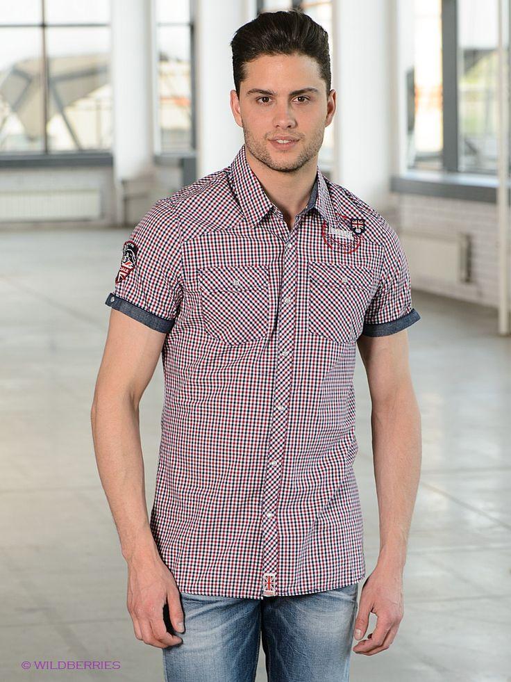 Выбрать в AMODERNA.RU  Стильная рубашка с короткими рукавами и классическим отложным воротником. Модель застегивается на пуговицы