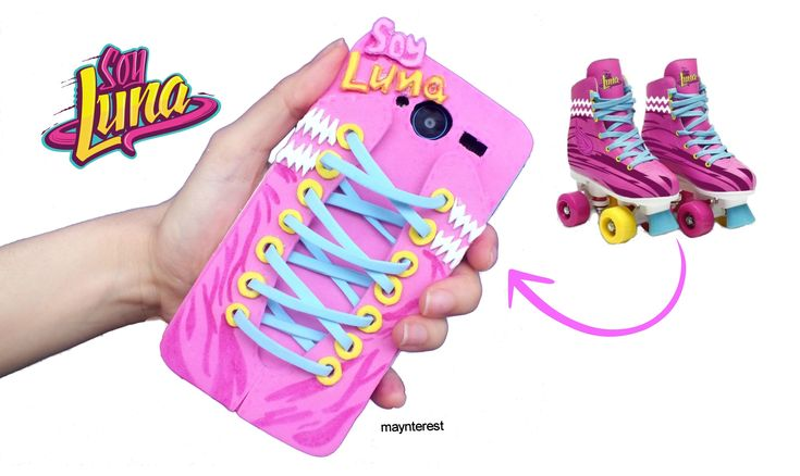 #DIY FUNDA PARA MÓVIL (celular) inspirada en SOY LUNA - Patines #soyluna