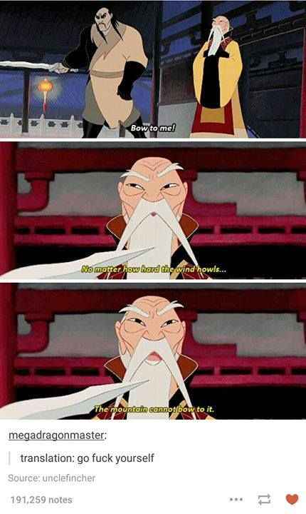 Straightforward Disney is straightforward.