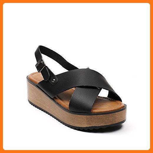 Millie, Damensandalen mit Zehensteg, Schwarz - schwarz - Größe: 37.5