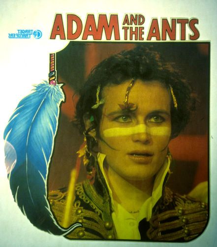 Adam THE Ants Adam Face Band 80s Vintage Retro Tshirt Transfer Print NEW NOS | eBay