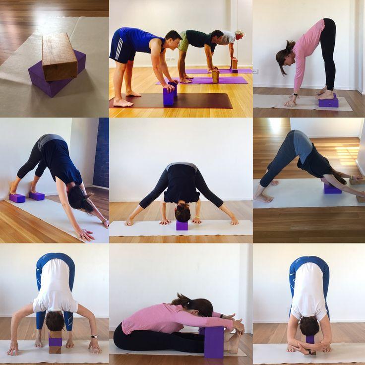 Forward bends using a yoga block