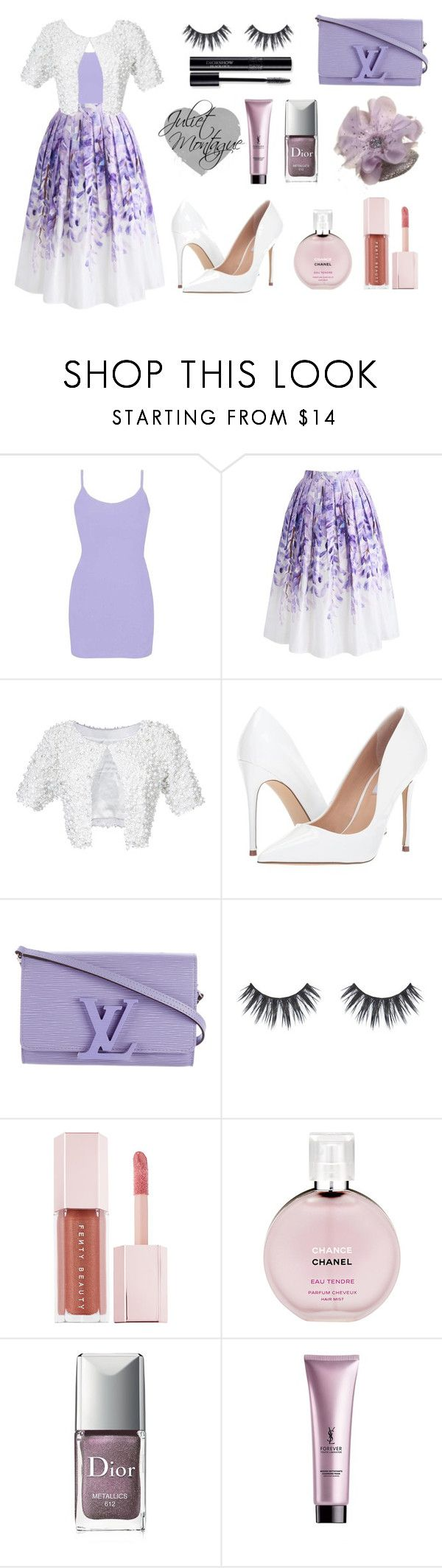 """Lavender Love - Juliet Montague"" by julietxmontague on Polyvore featuring Mode, BKE, Chicwish, Rubin Singer, Steve Madden, Louis Vuitton, Puma, Chanel, Christian Dior und Yves Saint Laurent"