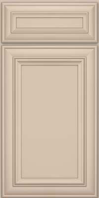 Eldridge door detail square recessed panel veneer for Dove white cabinets with cocoa glaze