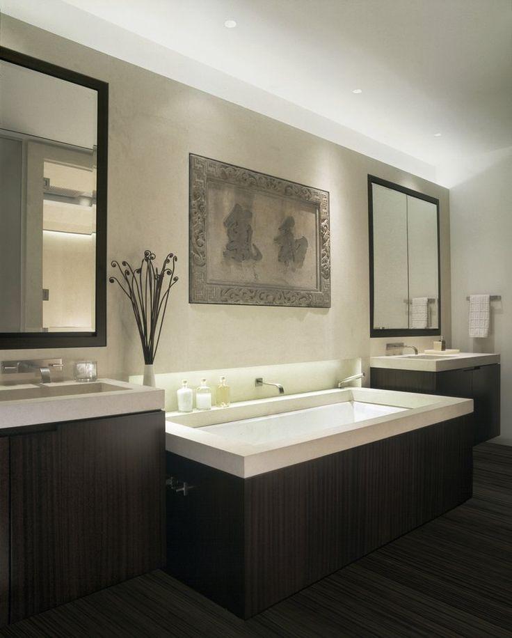 Adam Rolston, Gabriel Benroth, Drew Stuart, NYC, New York, European, apartment, bathroom, sink, wood, mirror, Asian, faucet, white, towel