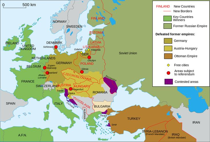 Territorial Changes in Europe after World War I