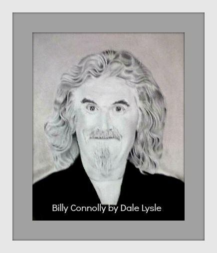 FOR SALE - FRAMED $95.00, NOT FRAMED $65.00, PRINTS $25.00. Billy Connolly - Graphite on A3 Eraldo di Paolo paper.