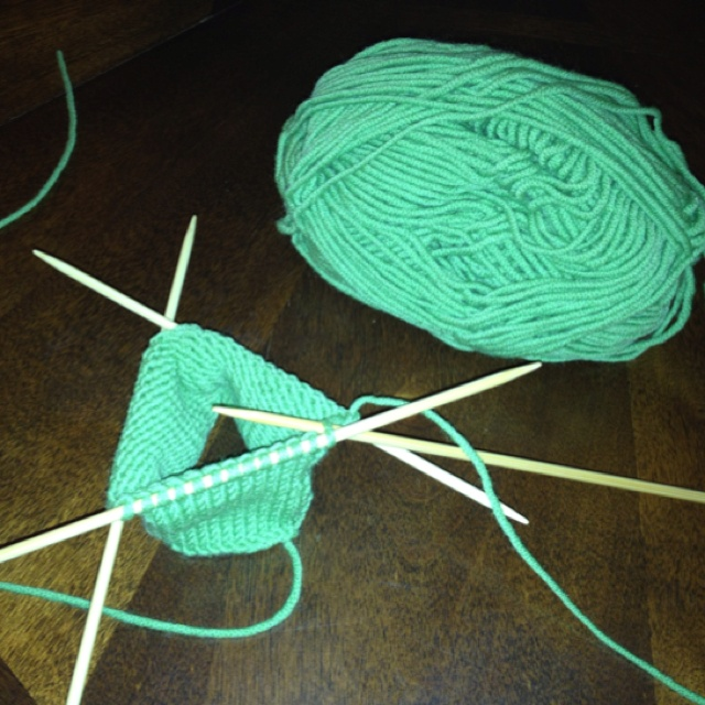Knitting Pattern Phone Sock : Knitting an iPhone sock using double-pointed bamboo needles to keep my phone ...