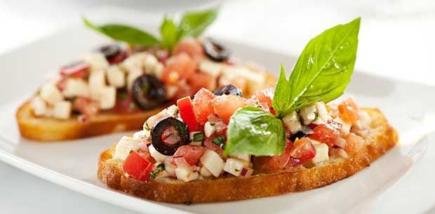 A Tuscan twist on a classic appetiser, this antipasto bruschetta is light…