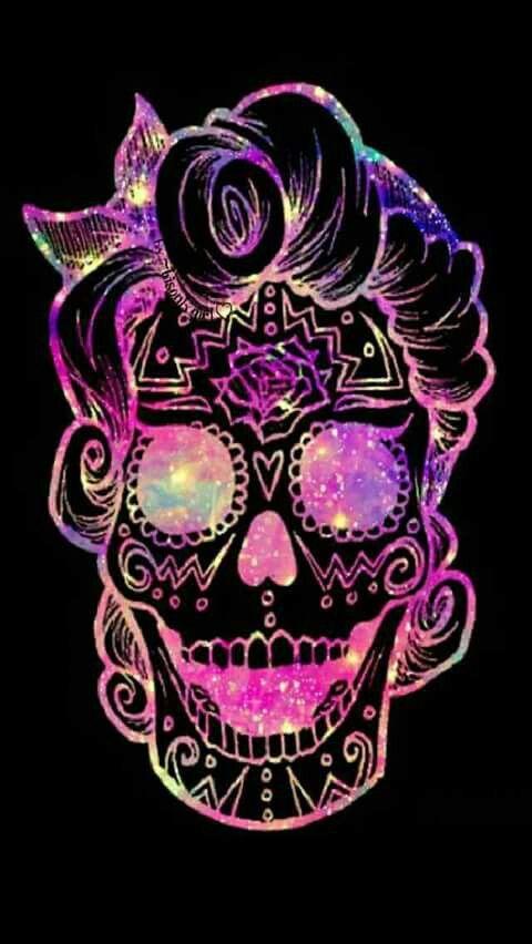 Purple Girl Candy Skull Wallpaper Psychedelic Skull 💖💀 💜🎵😏🎶🤘💛 Skulls In 2019 Skull